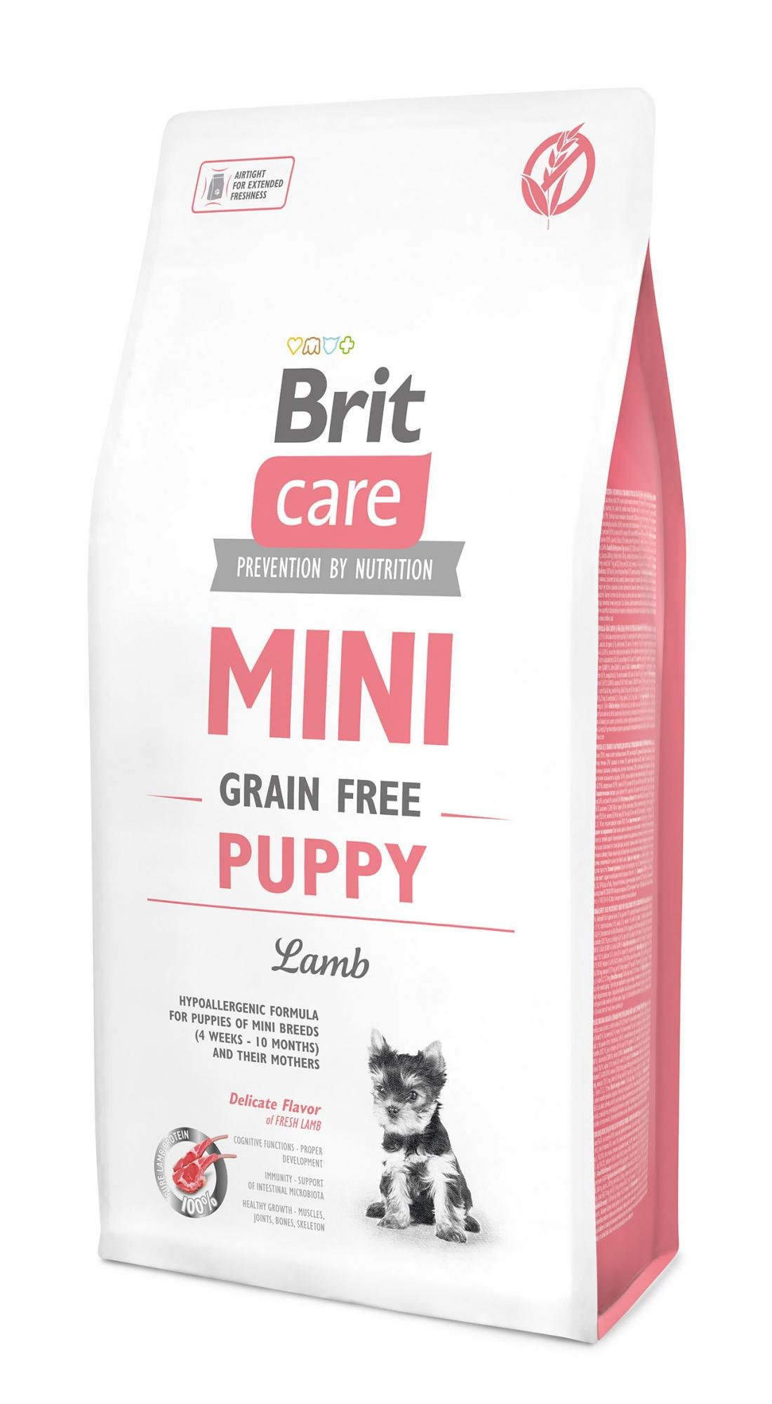 Brit Care Mini Grain Free Puppy Lamb 2kg + 2x kapsička 85g zdarma